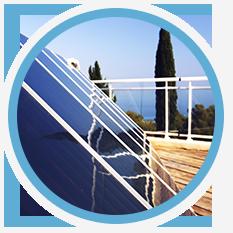 Angled solar panels
