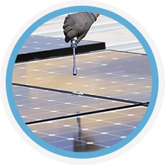 Adjusting a solar panel